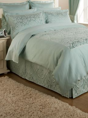 Christy Everett bed linen in sea green