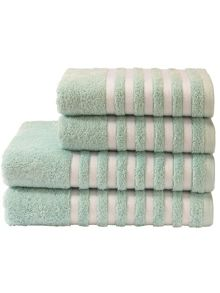 Essence towel range in duck egg