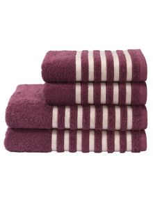 Kingsley Home Essence towel range in mulberry