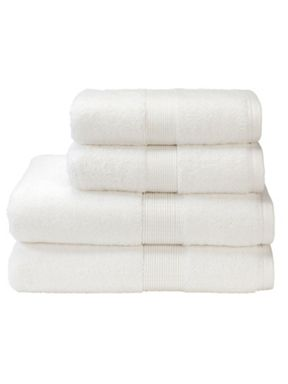 Christy Toledo towels in white