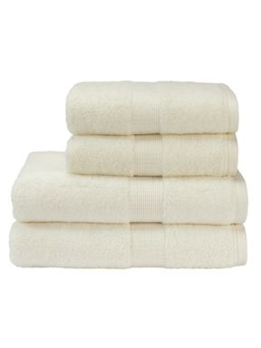 Christy Toledo towels in Cream