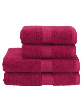 Christy Toledo towels in Plum