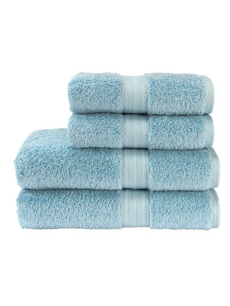 Christy Ren04 bath sheet soft chambray