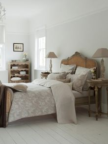 Shadow rose bed linen in natural linen
