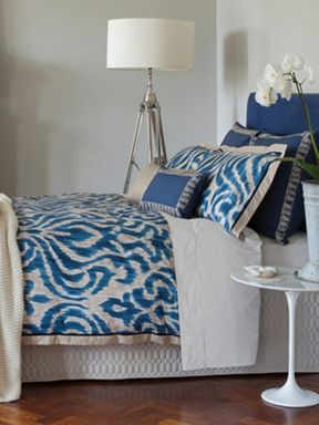 Christy Indonesia bed linen in ink blue