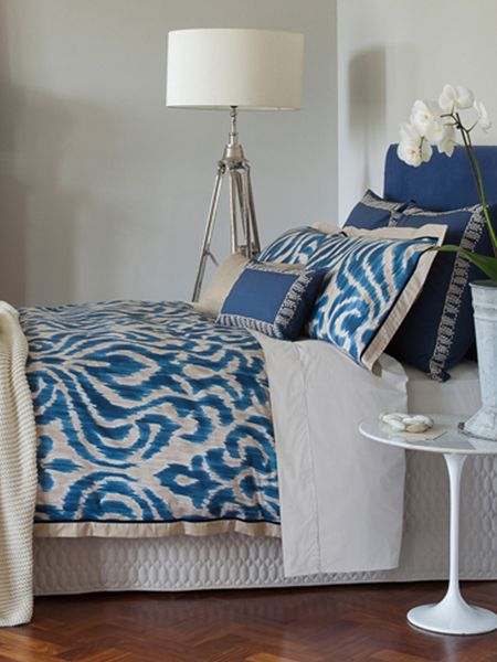 Christy Christy Indonesia oxford pillowcase pair ink blue