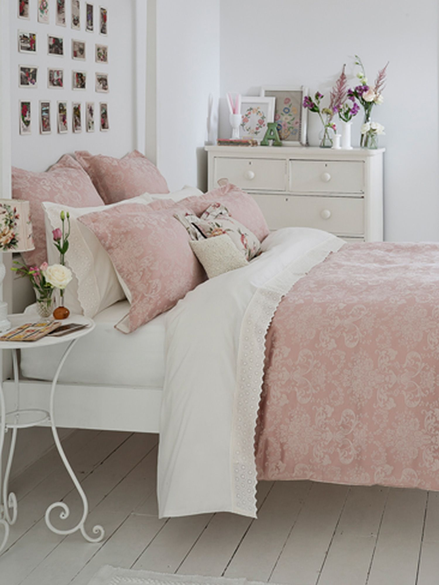 Fyfield bed linen range in rose