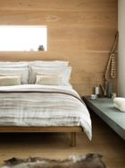 Christy Mocha stripe bed linen