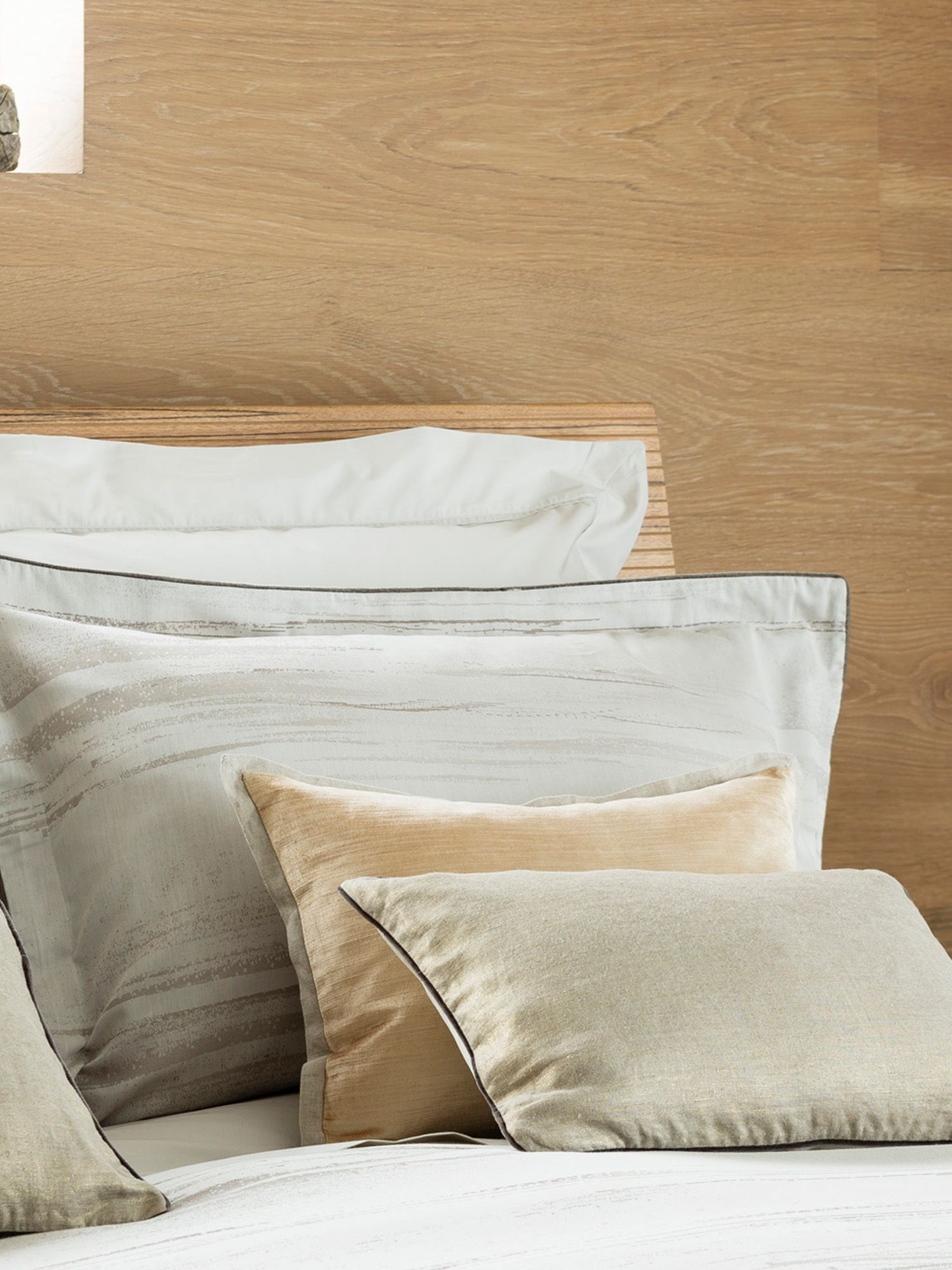 Mocha stripe bed linen