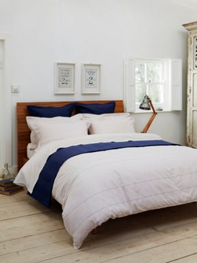 Textured striped bed linen