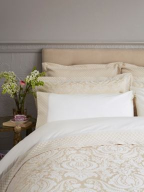 Christy Palace bed linen range in sand