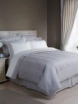 Wave bedspread single oyster