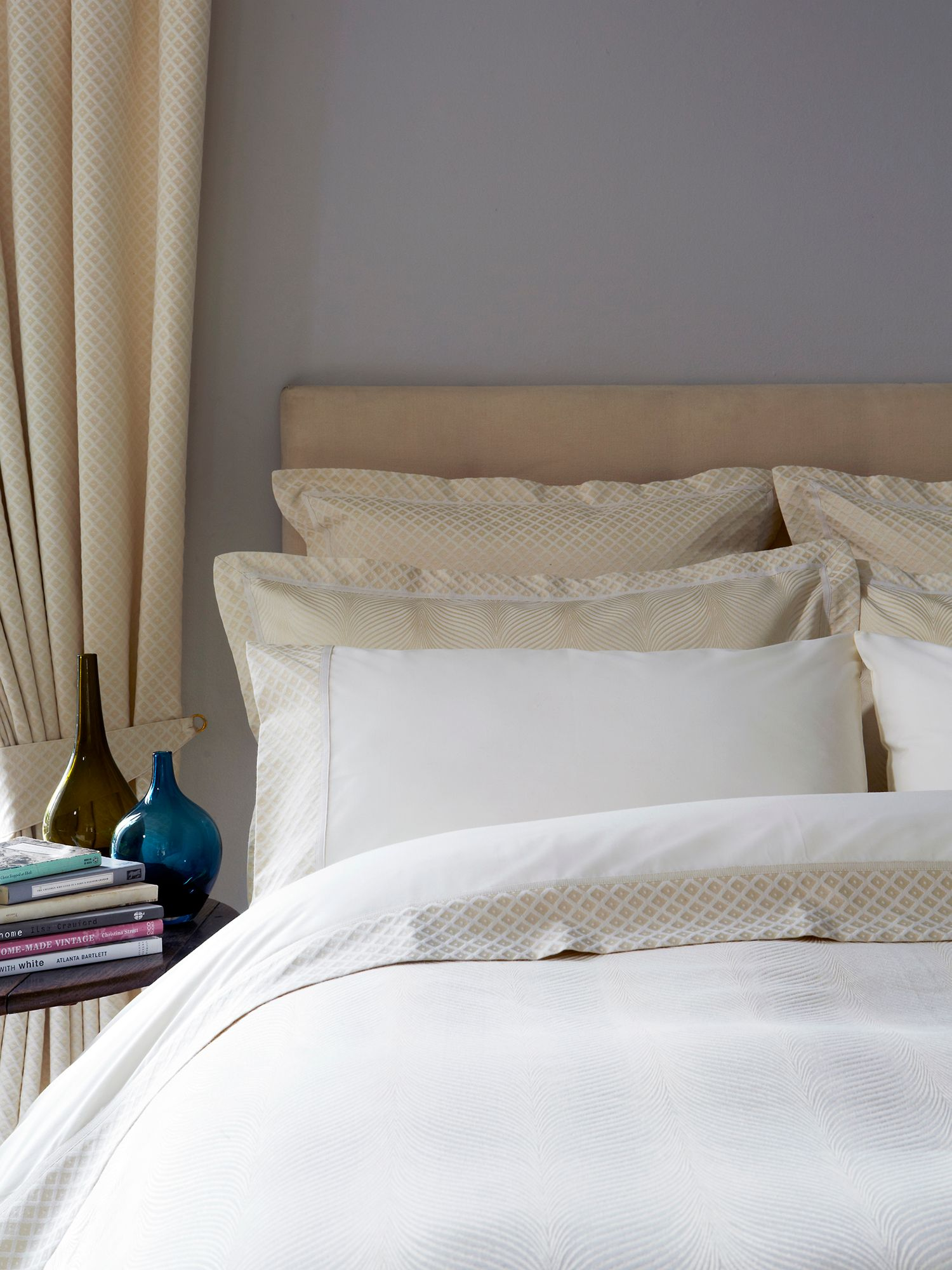 Wave bed linen range in sand