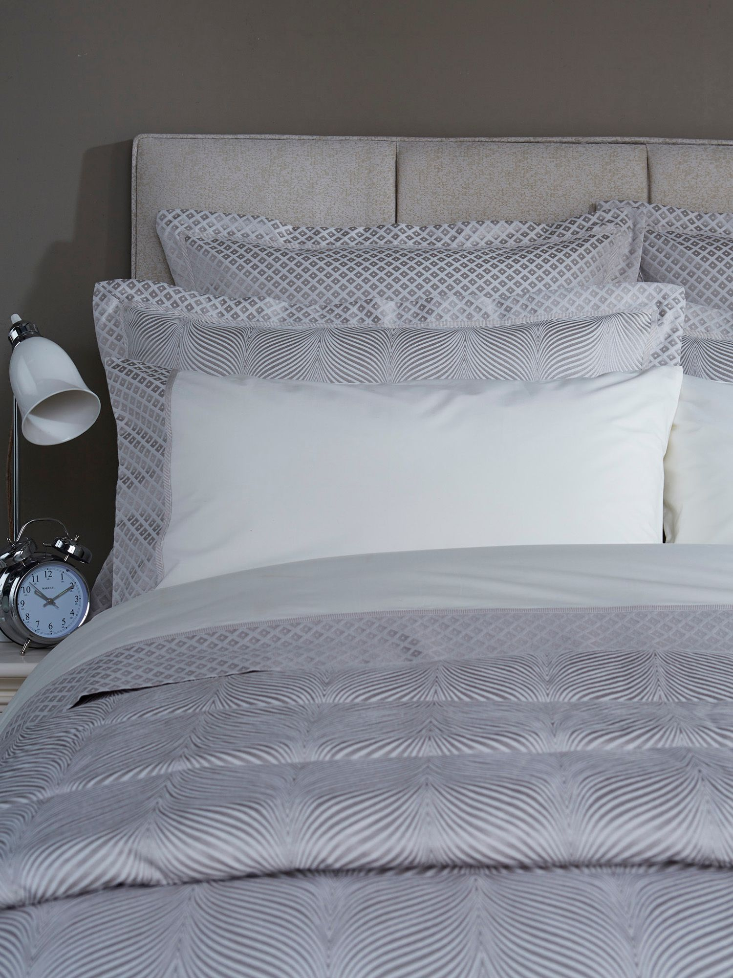 Wave bed linen range in oyster