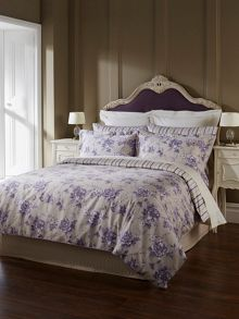 Briar rose double duvet grape