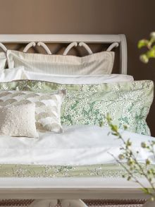 Lime blossom bed linen in sage green