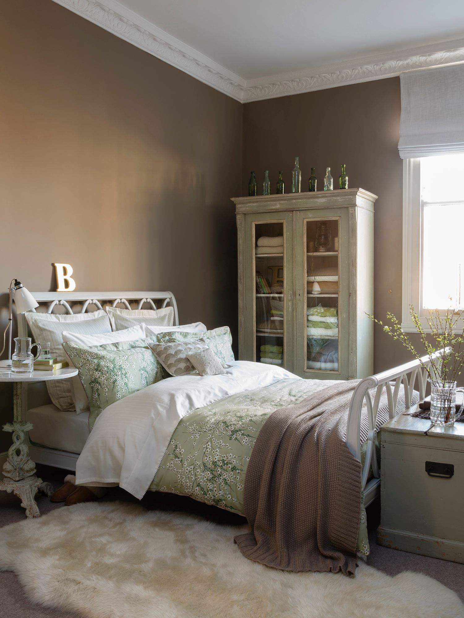 Lime blossom single duvet sage green