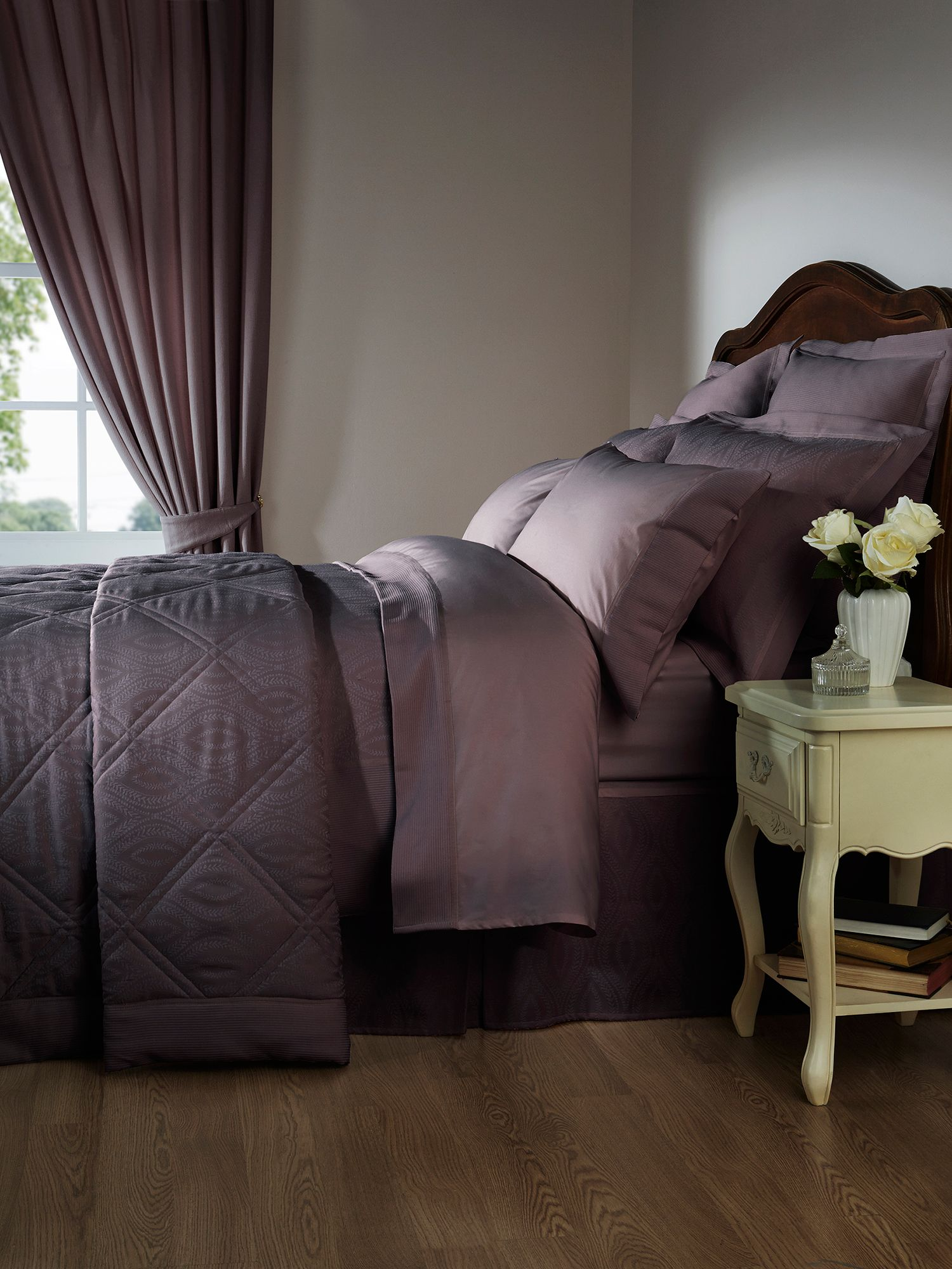 Ottoman single duvet plum