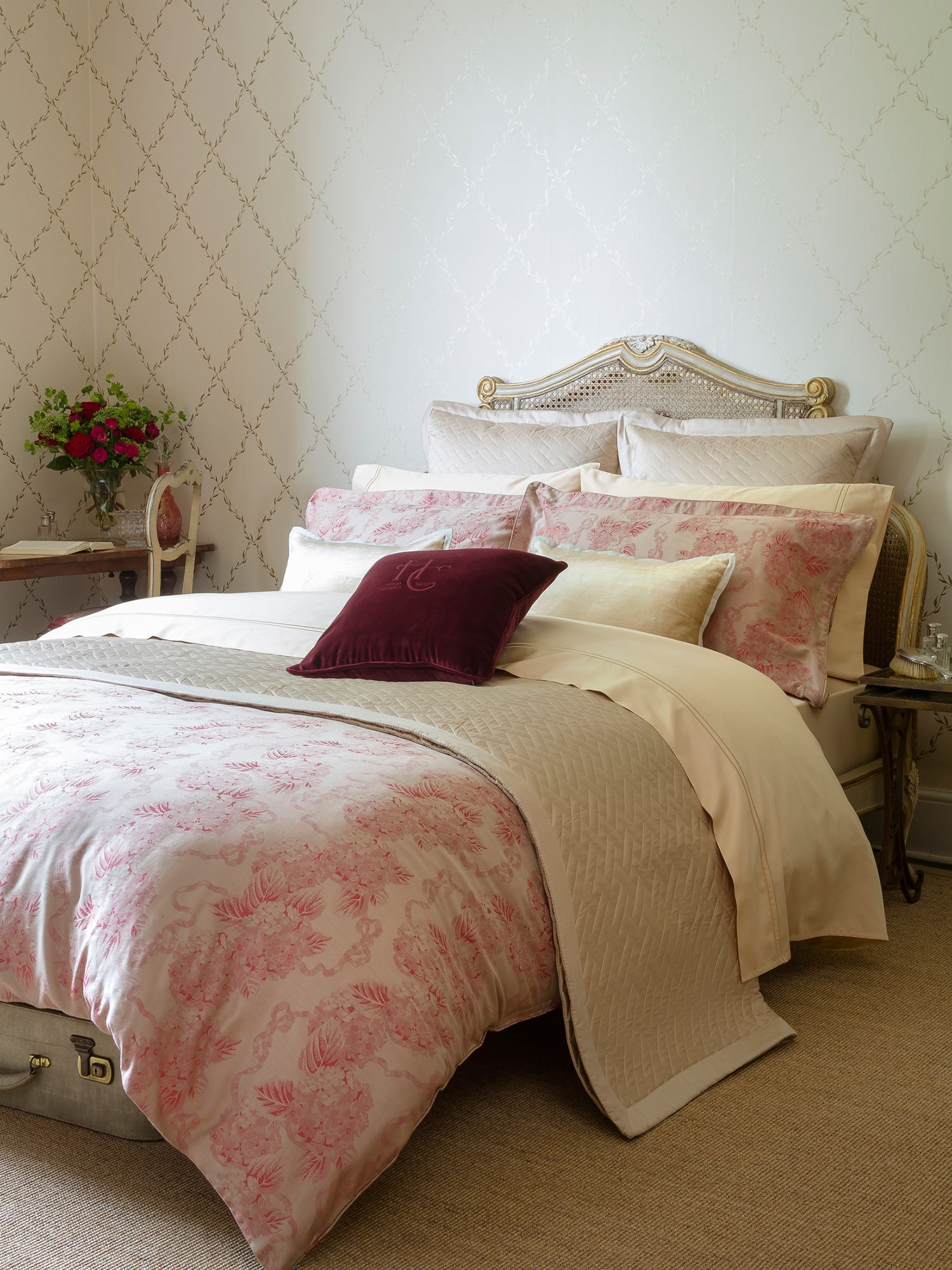 ruby floral super king duvet ruby