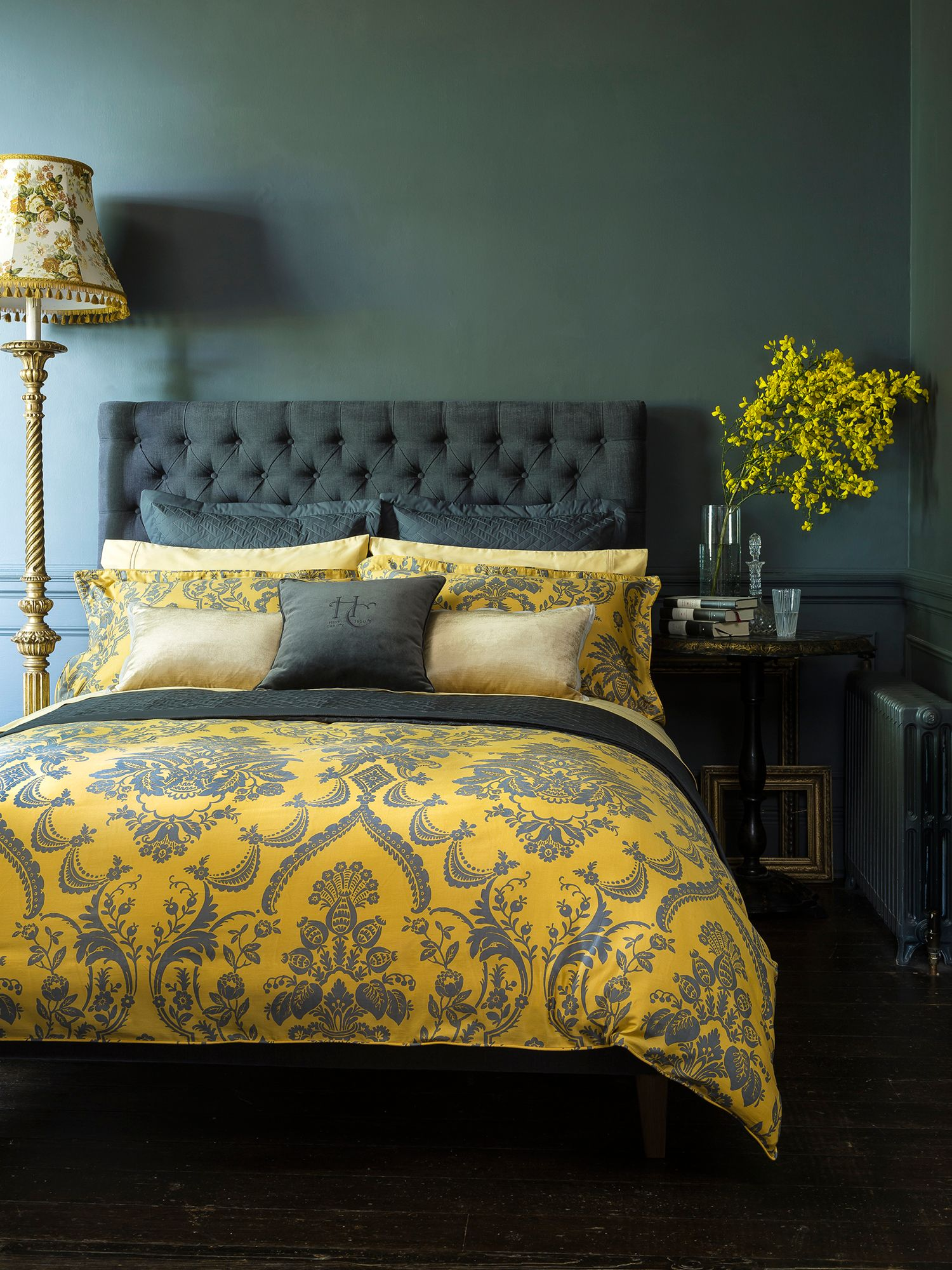 Morton bed linen in ochre