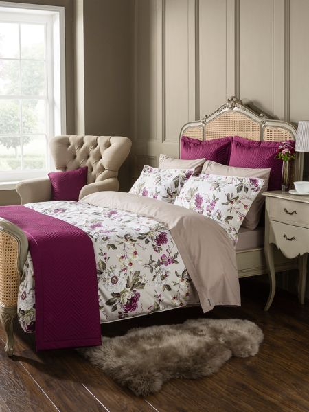 Christy Orchid oxford pillowcase pair plum