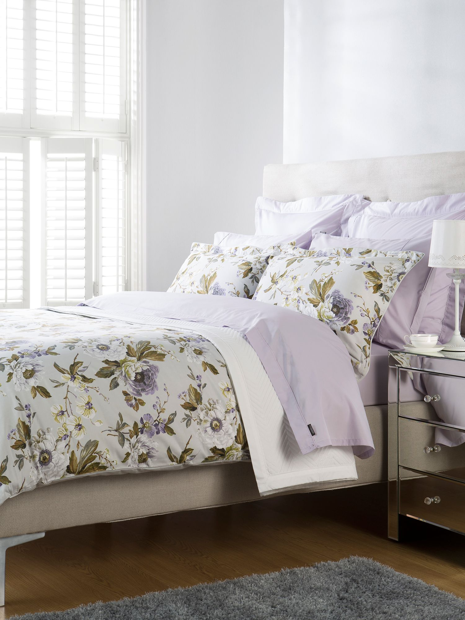 Orchid super king duvet lilac
