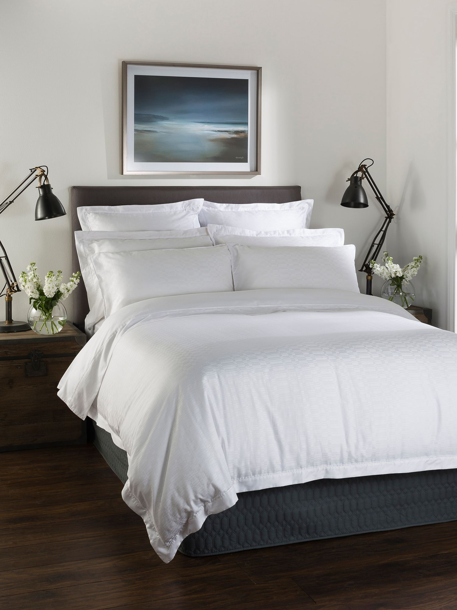 Calgary single duvet white