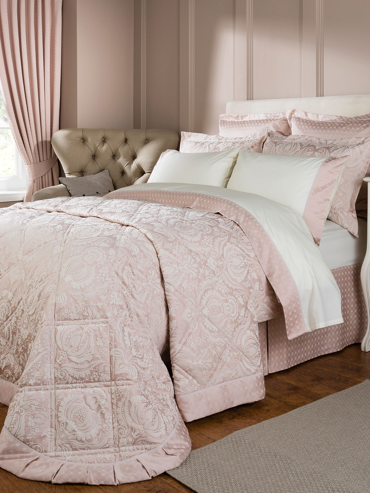 Limoges super king duvet rose pink