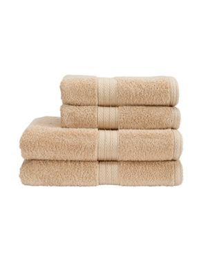 Christy Georgia linen coloured towels