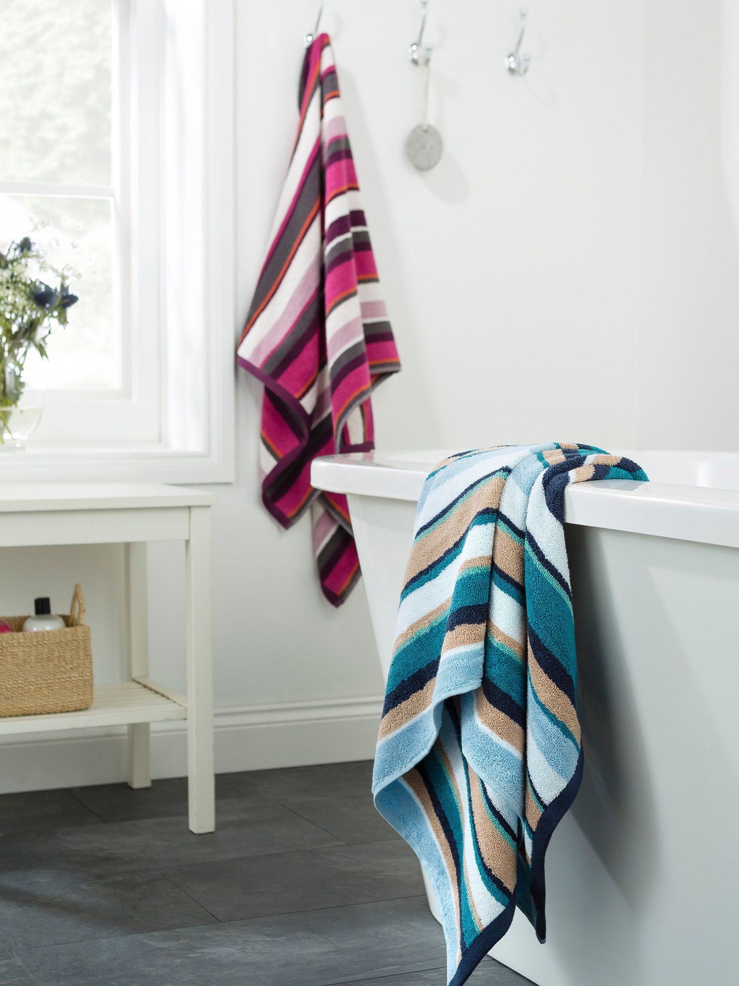 Georgia bery stripe towels