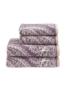 Mandalay towels damson