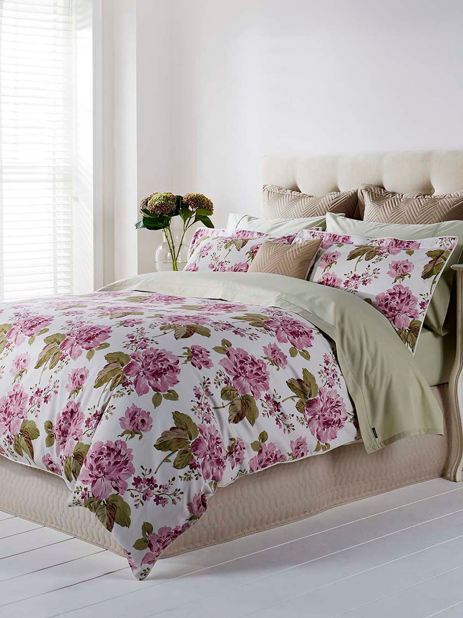 Anya single duvet pink