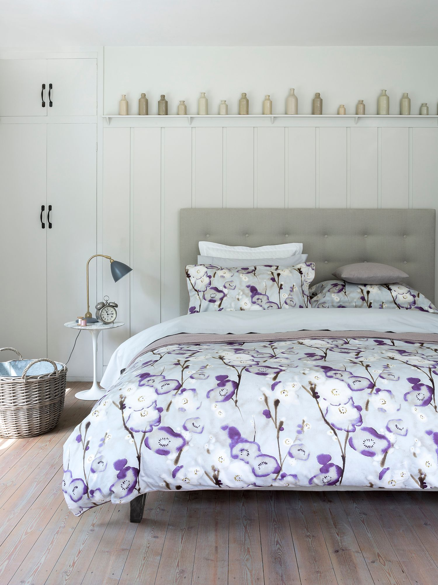 Grace single duvet purple