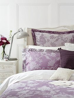 Chesham oxford rectangle pillowcase pair mauve