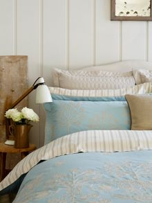 Hampton duck egg bed linen
