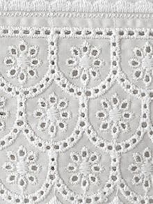 Chloe white lace cuff bed linen