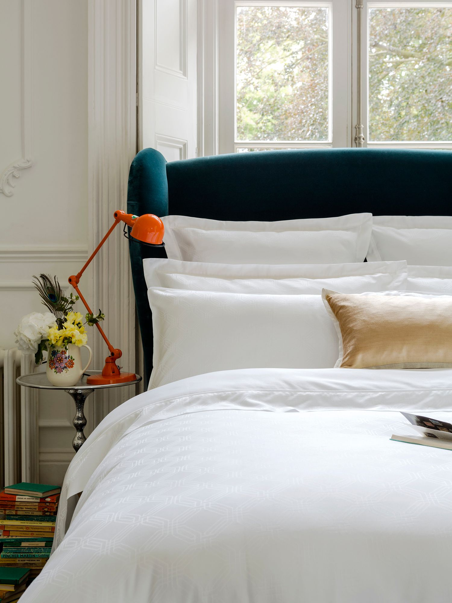 Maddox white bed linen
