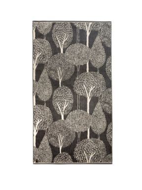 Christy Silhouette Jacquard Towels Charcoal