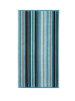 Christy Barcode Stripe Jacquard Towels Blue