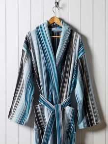 Christy Supreme capsule stripe robe aqua