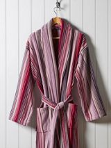 Christy Supreme capsule stripe robe large berry