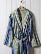 Christy Supreme capsule stripe robe blue