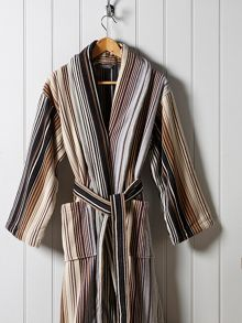 Christy Supreme capsule stripe robe neutral