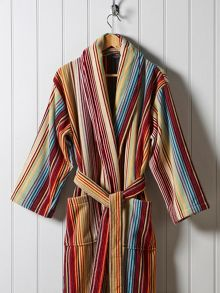 Christy Supreme capsule stripe robe spice