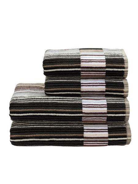 Christy Supreme cap neutral stripe guest towel