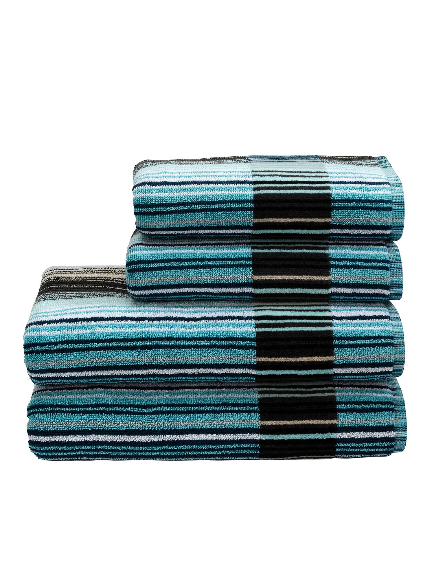 Supreme capsule stripe towels aqua