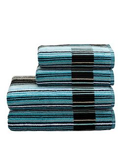 Supreme capsule stripe bath sheet aqua