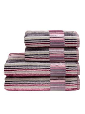 Christy Supreme capsule stripe towel berry