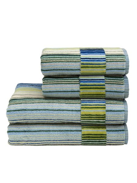 Christy Supreme capsule stripe bath sheet blue