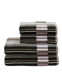 Christy Supreme capsule stripe towels neutral